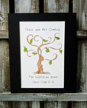Load image into Gallery viewer, 'Thank you for helping me grow' Tree Print
