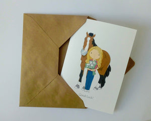 Horse and Owner Personalised Card