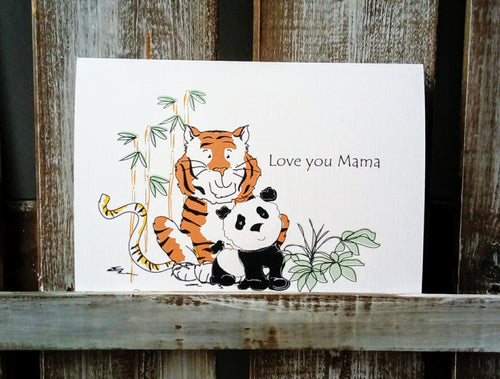Jungle Family Mother's Day Card