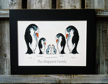 Load image into Gallery viewer, Penguin Family Personalised Print