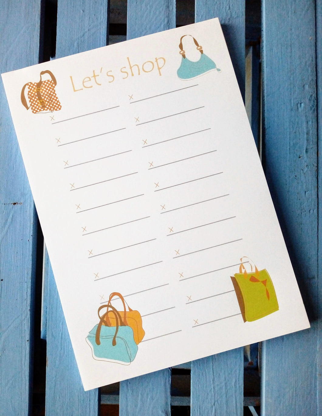 Let's Shop Notepad
