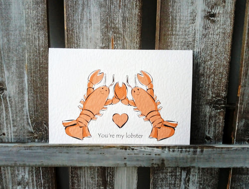 Lobsters Greetings Card