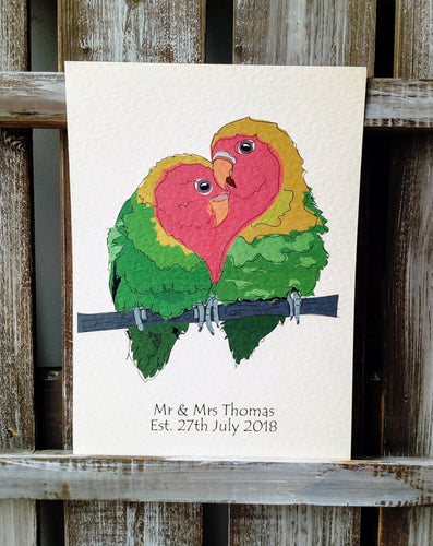 Love Birds Wedding Print