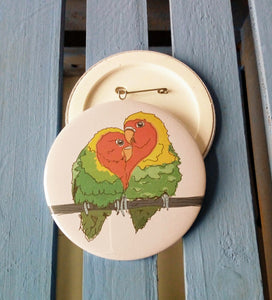 Love Birds Couple Badge