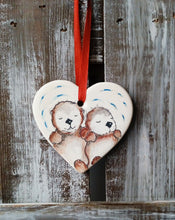 Load image into Gallery viewer, Otters Ceramic Heart