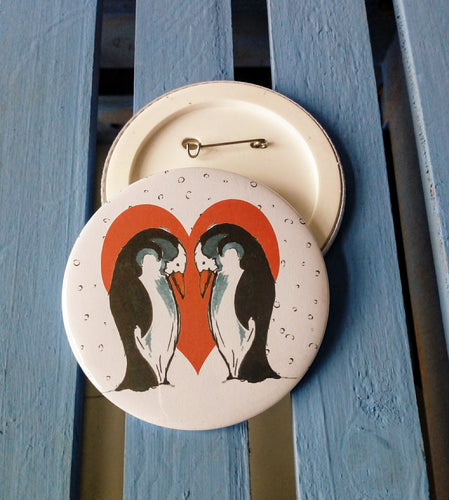 Penguin Couple Badge