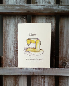 Sew Lovely Mother's Day Greetings Card