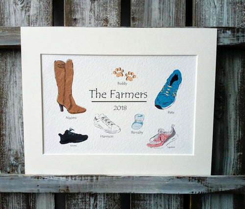 Shoes Personalised Family Print