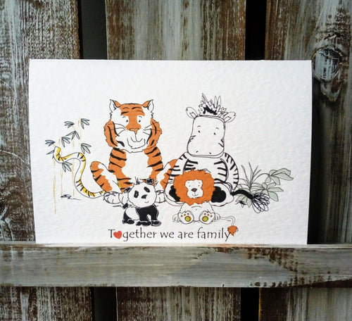 Together We Are Family Greetings Card