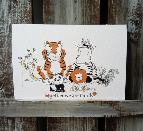 Together we are family Print