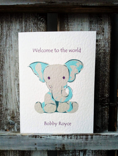 Welcome to the World Elephant Card
