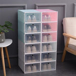 Transparent storage shoe box