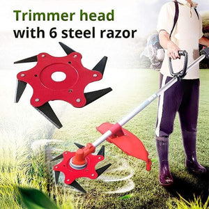 Manganese Steel Lawn Mower Trimmer Head