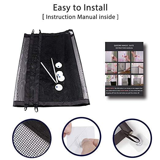 Retractable pet safety door