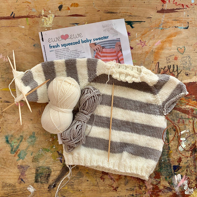Fresh Squeezed Baby Sweater Kit