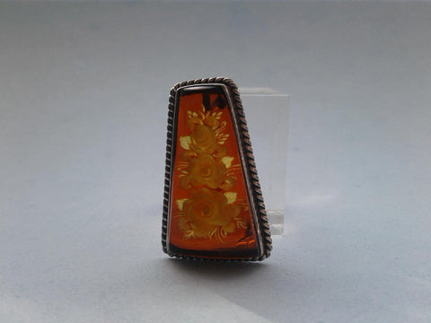 Baltic Amber Pendant / Pin