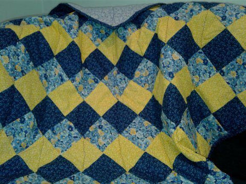 Blue & Yellow Lap Blanket