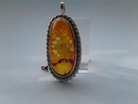 Baltic Amber Pendant/Pin