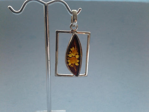 Baltic Amber & Silver Pendant