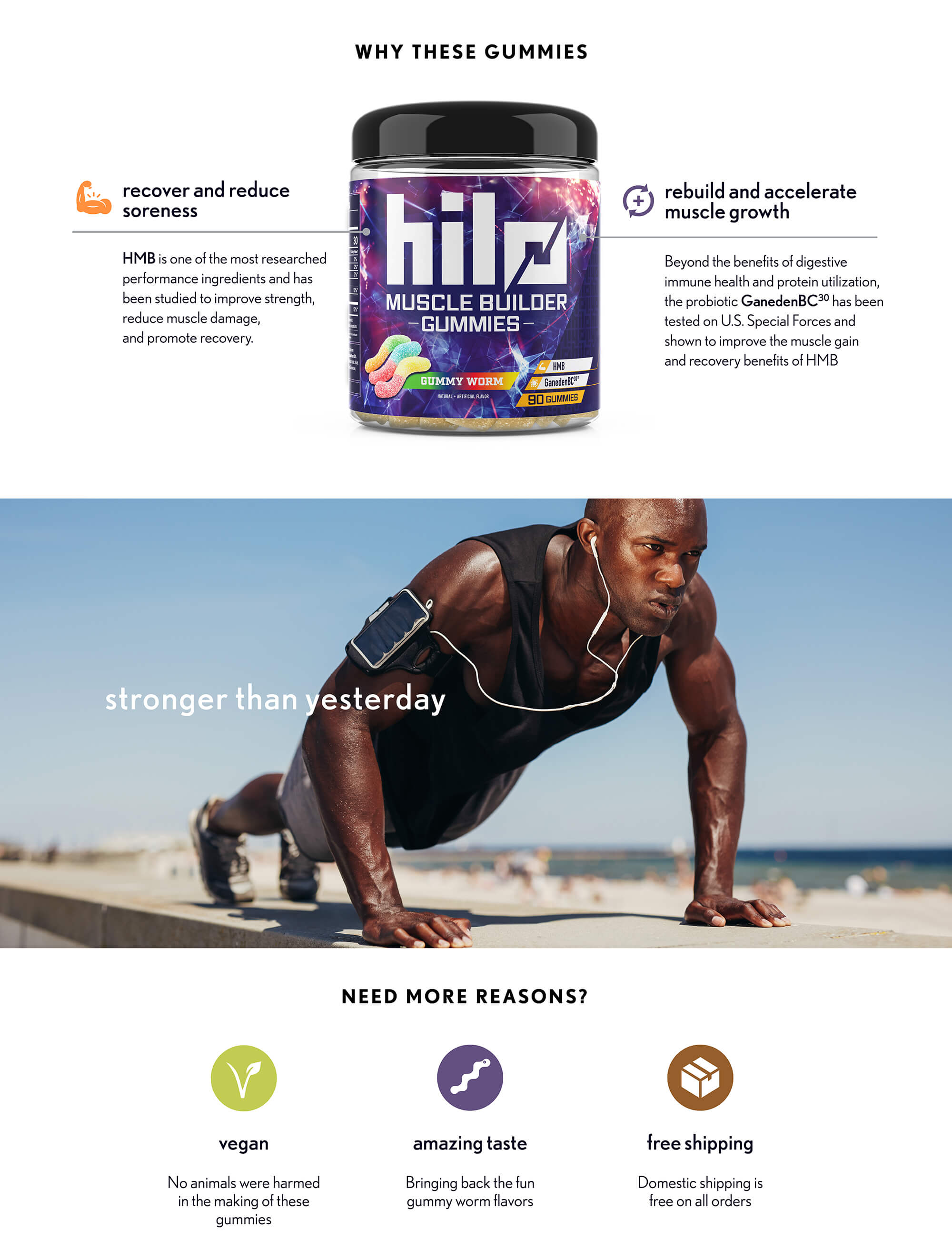 hilo performance gummies muscle builder