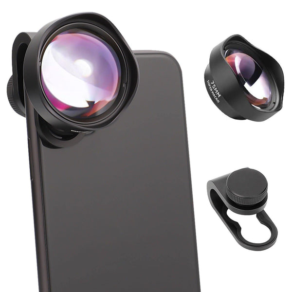UVML-10X Super Macro Lens Smartphone Attachment HD Lenses for iPhone12 Pro Max and Android Smart Phones Clip-on