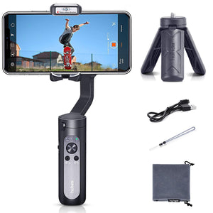 iSteady X Foldable Smartphone Gimbal Handheld Stabilizer for iPhone 11 Pro Max, Samsung Android Phones, Max Playload 280g Phone Stabilizer Support Moment Mode/Inception/Paronama Mode with Hohem Pro APP Remote Control 259g Lightweight
