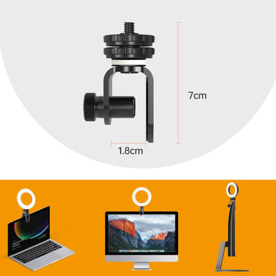 UVZL-R Ring Light Video Conference Light for Computer Laptop Cameras with Monitor Clip-on - USKEYVISION