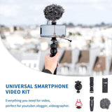 VLOG K1 Smartphone Vlog Creator Kit with Cardioid Microphone Tripod Case Bag