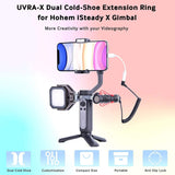 USKEYVISION UVRA-X Dual Cold-shoe Extension Ring Exclusive for Hohem iSteady X Gimbal Stabilizer