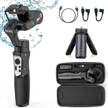 Hohem iSteady Pro 3 Action Camera Gimbal Stabilizer Splash-proof Gimbal for GoPro8 GoPro Hero7/6/5 Osmo Action Gimbal