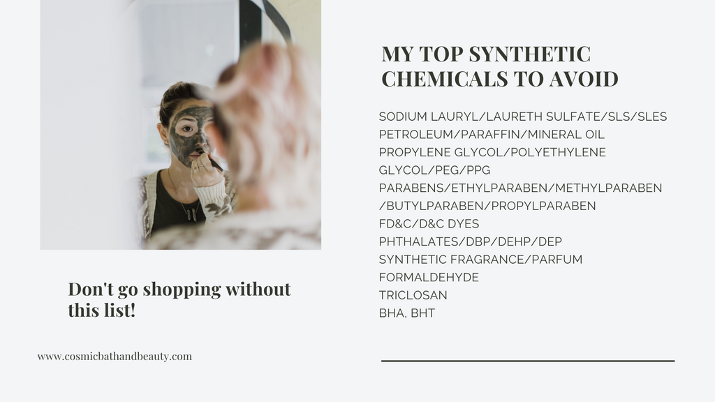 top synthetic ingredients to avoid in skincare and cosmetics