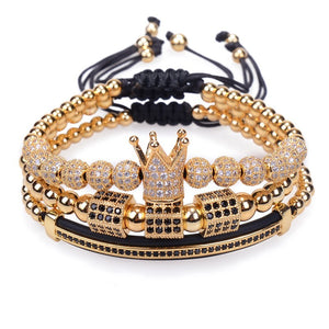 Gold plated Crown Charm bracelets