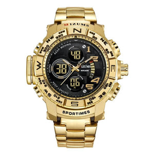 Gold LED Digital Watch