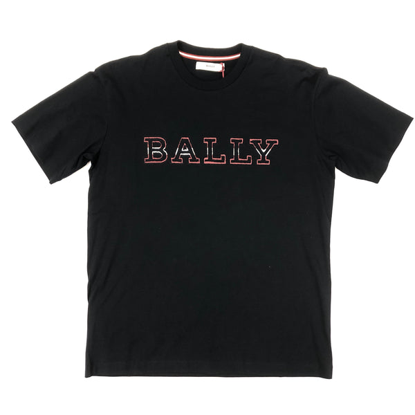 Bally Stripe Logo T-Shirt (Navy)