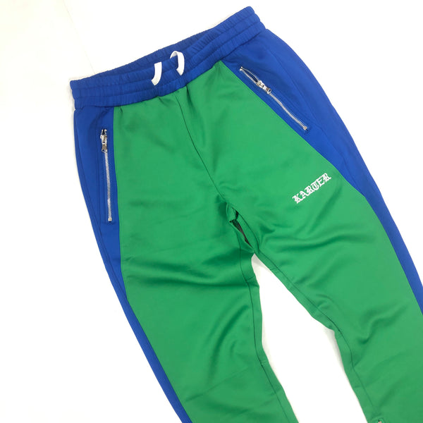 Karter Green/Blue Track Pants