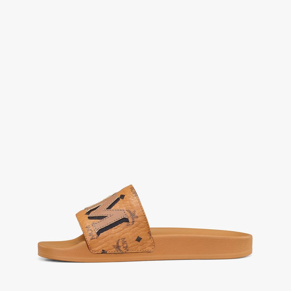 MCM Women's Visetos Patch Slides (Cognac)