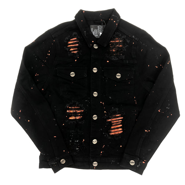 Denim City The Crystal Denim Jacket (Orange)