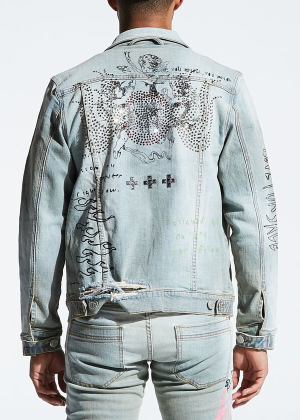 Lifted Anchors Clarke Denim Jacket (Blue)