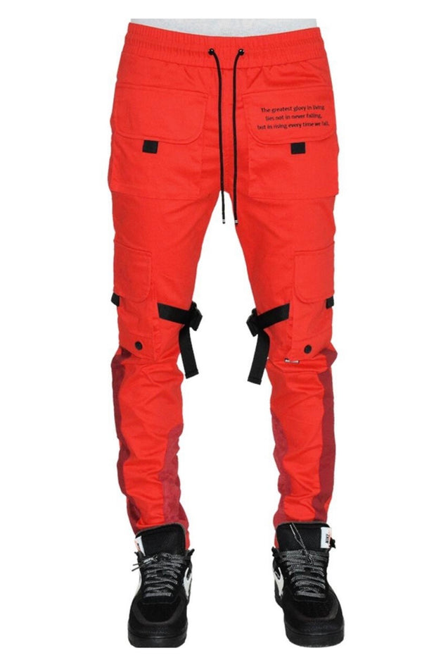 Hideout Uprising Cargo Pants (Ice Red)