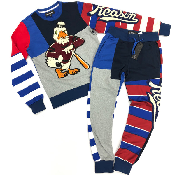 Reason Eagle Jogging Set (Blue)
