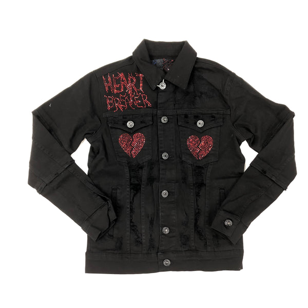 Focus Heart Breaker Crystal Denim Jacket (Black)