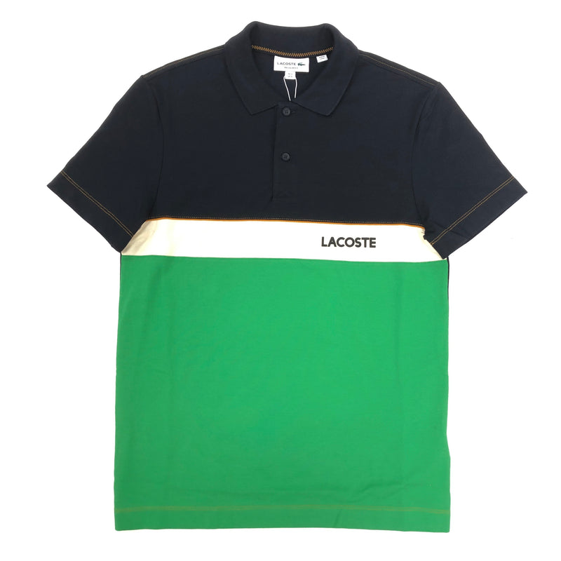 Lacoste Tri Color Polo (Navy/Beige/Green)