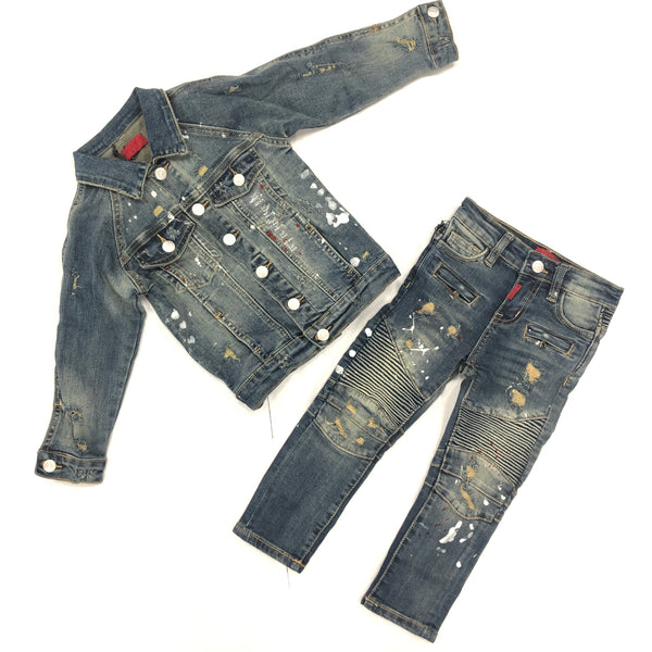 Haus Of Jr Kids Elijah Denim Set