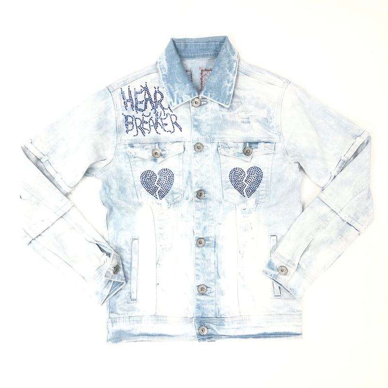 Focus Heart Breaker Crystal Denim Jacket (Blue)
