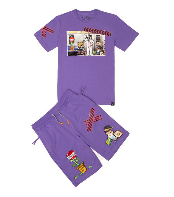 Civilized Money Bear Short Set (Lavender)