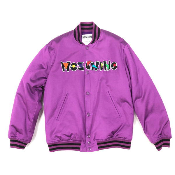 Prism Nylon Bomber Jacket (Purple)