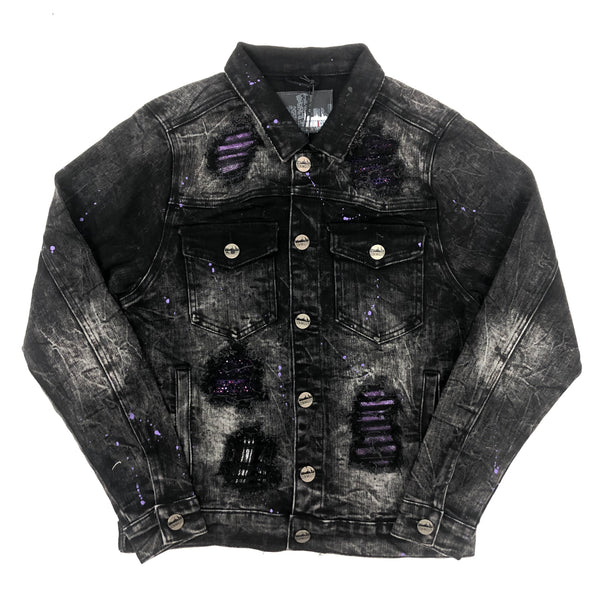 Denim City The Crystal Denim Jacket (Purple)