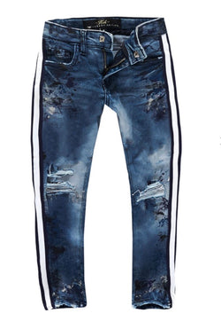 Jordan Craig Kids Striped Jeans (River Blue)
