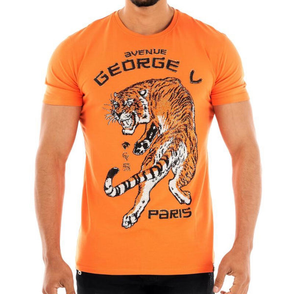 George Ave Crystal Tiger Tee (Orange)