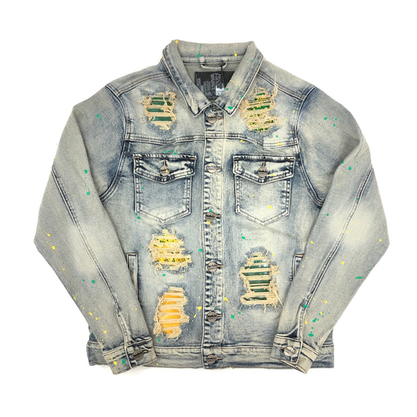 Denim City The Crystal Denim Jacket (Yellow/Green)